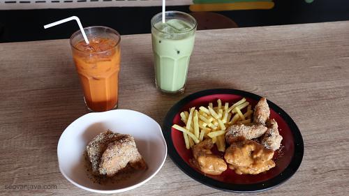 menu sayap ayam dan minuman wingz o wingz
