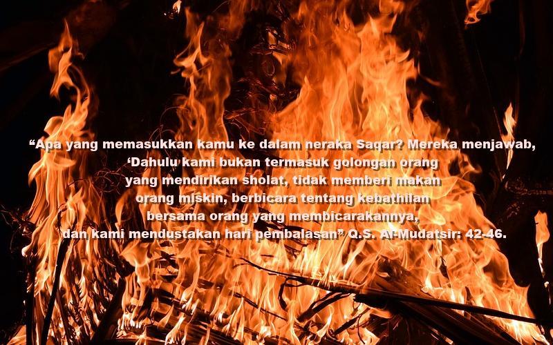 neraka saqar untuk yang meninggalkan sholat