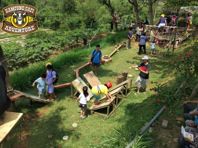 Arena Outbond Anak di Kampung Sapi Adventure Batu Malang